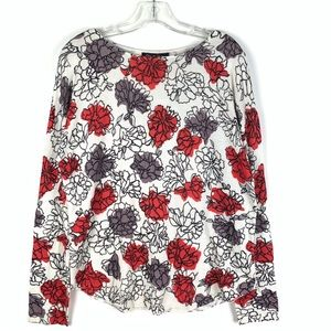 Olivia Grace floral pullover knit sweater